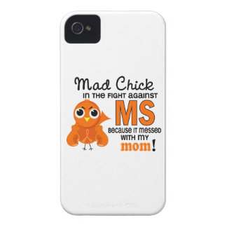 Mad Chick 2 Mom Multiple Sclerosis MS iPhone 4 Case
