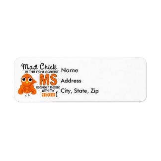 Mad Chick 2 Mom Multiple Sclerosis MS Return Address Label
