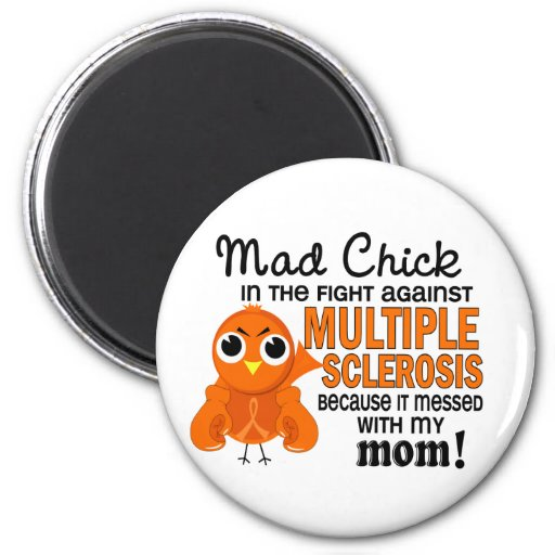 Mad Chick 2 Mom Multiple Sclerosis MS Magnets