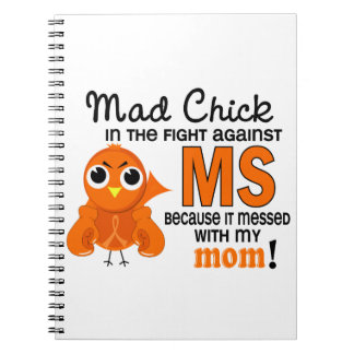 Mad Chick 2 Mom Multiple Sclerosis MS Notebook
