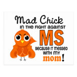 Mad Chick 2 Mom Multiple Sclerosis MS Post Card
