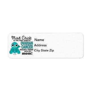 Mad Chick 2 Mom Ovarian Cancer Return Address Label