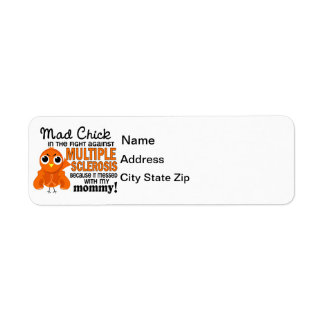 Mad Chick 2 Mommy Multiple Sclerosis MS Label