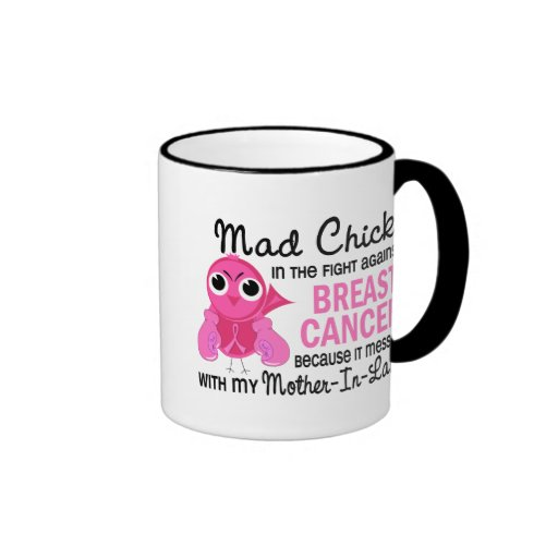 Mad Chick 2 Mother-In-Law Breast Cancer Coffee Mug