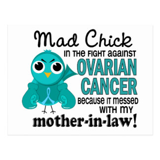 Mad Chick 2 Mother-In-Law Ovarian Cancer Postcard