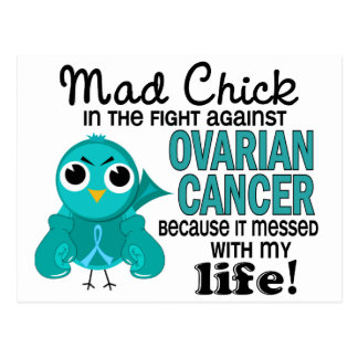 Mad Chick 2 My Life Ovarian Cancer Post Cards