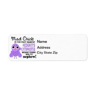 Mad Chick 2 Nephew Hodgkin's Lymphoma / Disease Return Address Label