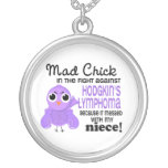 Mad Chick 2 Niece Hodgkin's Lymphoma / Disease Round Pendant Necklace