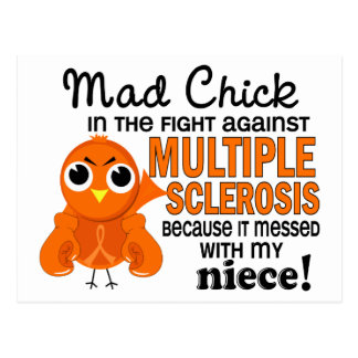Mad Chick 2 Niece Multiple Sclerosis MS Postcard