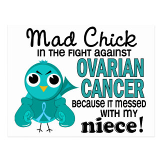Mad Chick 2 Niece Ovarian Cancer Postcard