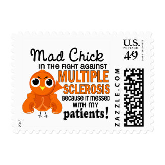 Mad Chick 2 Patients Multiple Sclerosis MS Stamps
