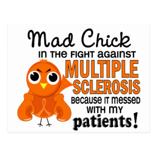 Mad Chick 2 Patients Multiple Sclerosis MS Postcard
