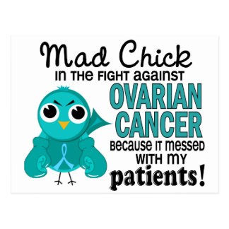 Mad Chick 2 Patients Ovarian Cancer Postcard