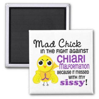 Mad Chick 2 Sissy Chiari Malformation Fridge Magnet