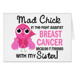 Mad Chick 2 Sister Breast Cancer Greeting Card
