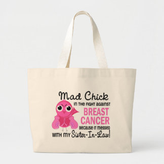 Mad Chick 2 Sister-In-Law Breast Cancer Jumbo Tote Bag