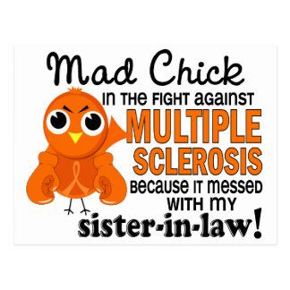 Mad Chick 2 Sister-In-Law Multiple Sclerosis MS Postcard