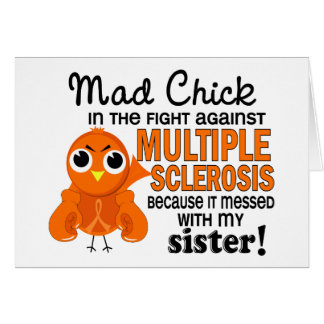 Mad Chick 2 Sister Multiple Sclerosis MS Cards
