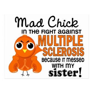 Mad Chick 2 Sister Multiple Sclerosis MS Postcard