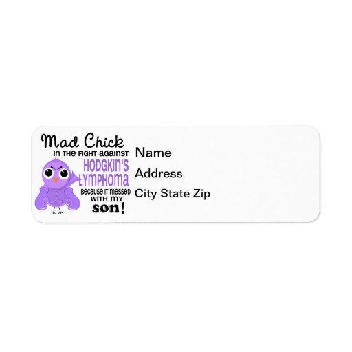 Mad Chick 2 Son Hodgkin's Lymphoma / Disease Custom Return Address Labels