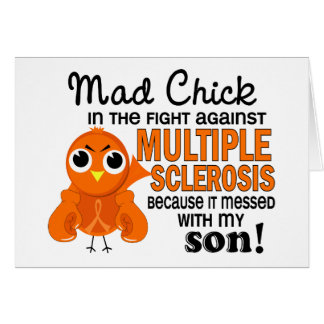 Mad Chick 2 Son Multiple Sclerosis MS Greeting Cards