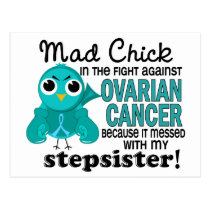 Mad Chick 2 Stepsister Ovarian Cancer Postcard