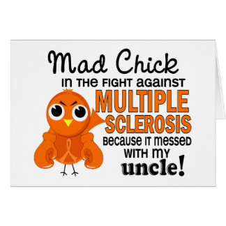 Mad Chick 2 Uncle Multiple Sclerosis MS Greeting Cards