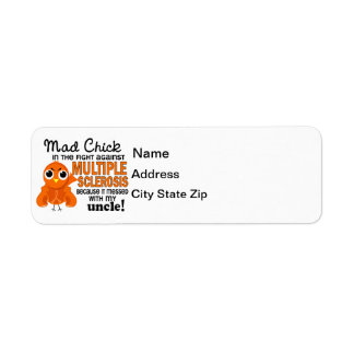 Mad Chick 2 Uncle Multiple Sclerosis MS Return Address Label