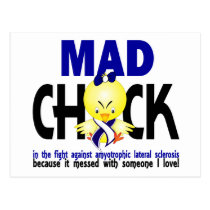 Mad Chick Amyotrophic Lateral Sclerosis Postcard