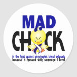 Mad Chick Amyotrophic Lateral Sclerosis Round Sticker