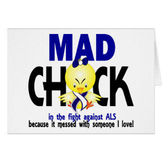 Mad Chick In The Fight ALS Greeting Card