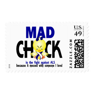 Mad Chick In The Fight ALS Postage