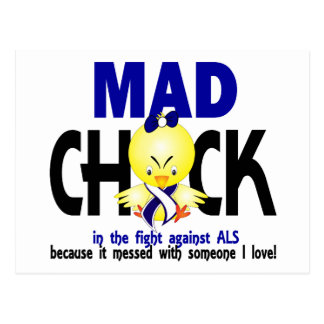 Mad Chick In The Fight ALS Postcard