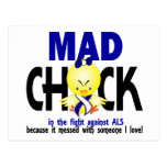 Mad Chick In The Fight ALS Postcards