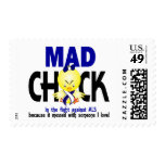 Mad Chick In The Fight ALS Stamps