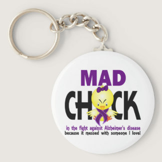 Mad Chick In The Fight Alzheimer's Disease Keychain