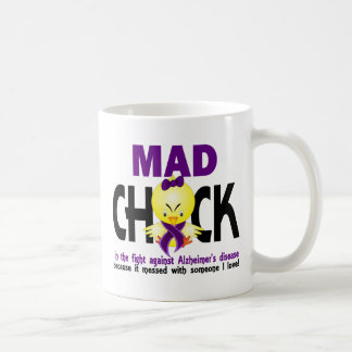 Mad Chick In The Fight Alzheimer's Disease Classic White Coffee Mug