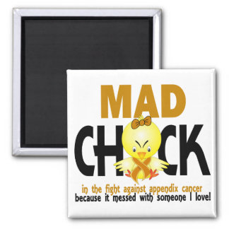 Mad Chick In The Fight Appendix Cancer Magnet