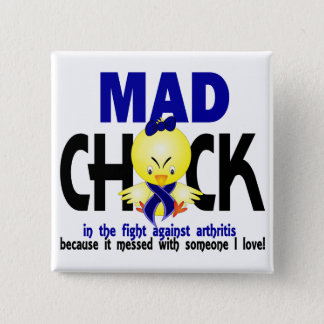 Mad Chick In The Fight Arthritis Button