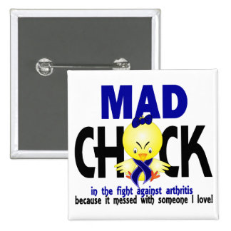 Mad Chick In The Fight Arthritis Pins
