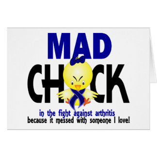 Mad Chick In The Fight Arthritis Greeting Card