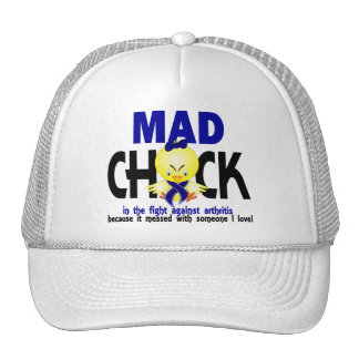 Mad Chick In The Fight Arthritis Hats