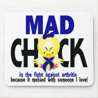Mad Chick In The Fight Arthritis Mouse Pad