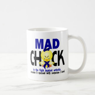 Mad Chick In The Fight Arthritis Classic White Coffee Mug