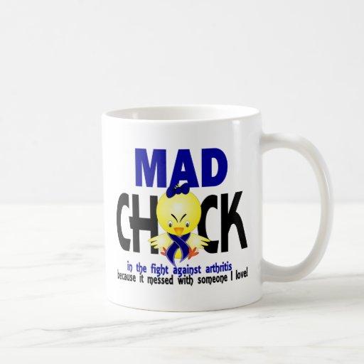 Mad Chick In The Fight Arthritis Classic White Coffee Mug