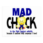 Mad Chick In The Fight Arthritis Postcard