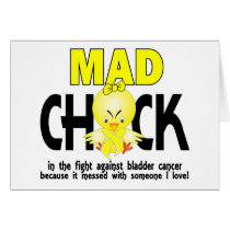 Mad Chick In The Fight Bladder Cancer Card
