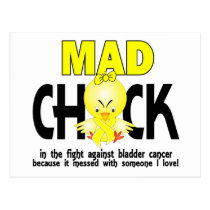 Mad Chick In The Fight Bladder Cancer Postcard