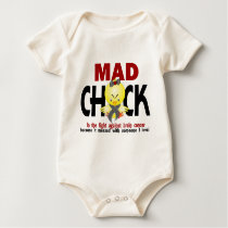 Mad Chick In The Fight Brain Cancer Baby Bodysuit