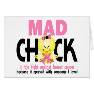 Mad Chick In The Fight Breast Cancer Card